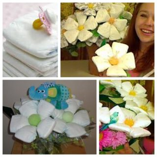 Wonderful DIY Beautiful Diaper Flower Bouquet