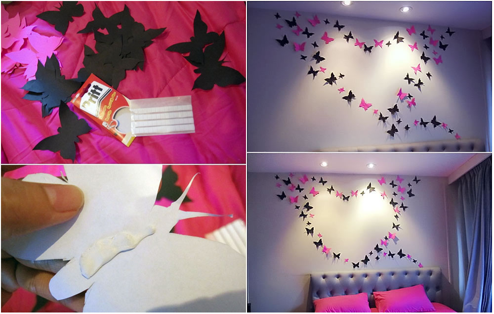 diy butterflies wall art Bright and Beautiful Butterfly Wall Art