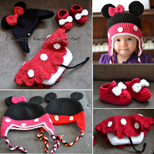 diy crochet minnie mouse beanie Wonderful DIY Crochet Mickey Minnie Mouse  Beanies