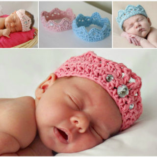 Wonderful DIY Crochet Sweet Newborn Crown