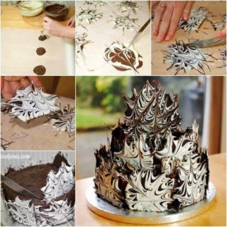 Wonderful DIY Cool Marble Chocolate Cake