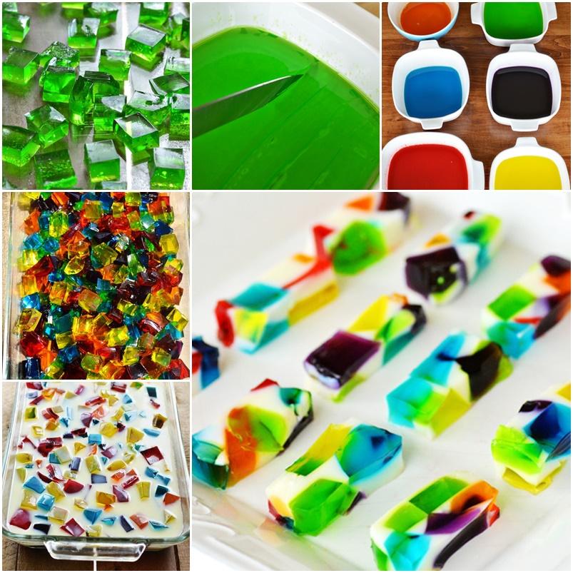 edible jell o art Wonderful DIY Edible Jell O art