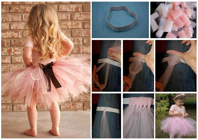 girl's  Tutu without Sewing