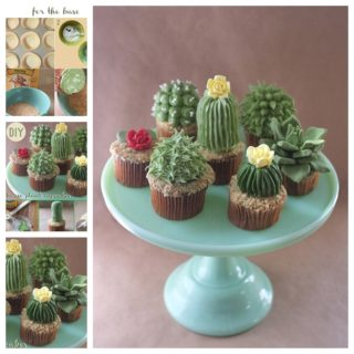 Wonderful DIY Cute House Plant Cupcakes