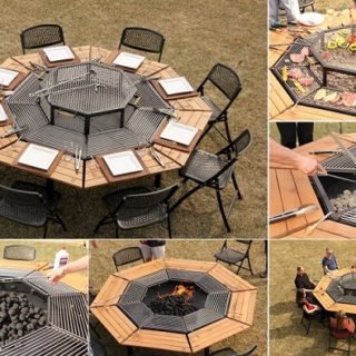Wonderful Jag Grill 3 in 1 BBQ Table