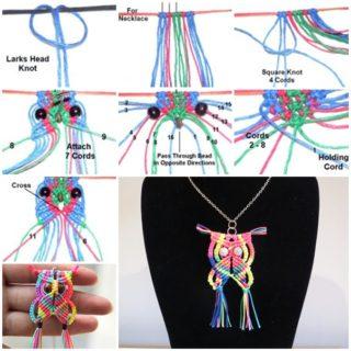 Wonderful DIY Macrame Owl Necklace