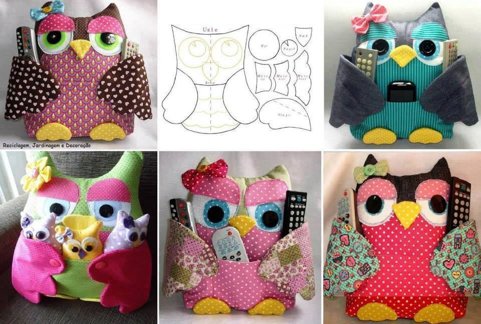 owl-pillow-remote-control-holder-pattern
