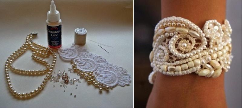 pearl Lace bracelet F0