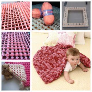 Pretty Pom Pom Baby Blanket – Free Video Tutorial