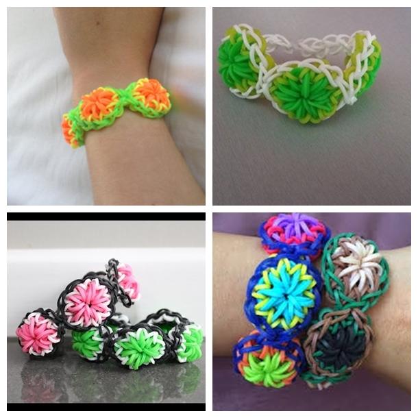 rainbow loom citrus bracelet F