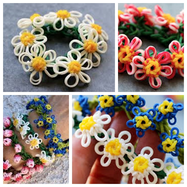 rainbow loom daisy flower bracelet Wonderful DIY Rainbow Loom Daisy Flower Bracelet