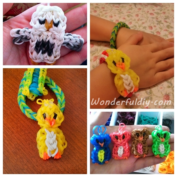 rainbow loom owl charm F.w Wonderful DIY Cute Rainbow Loom  Owl  Charm