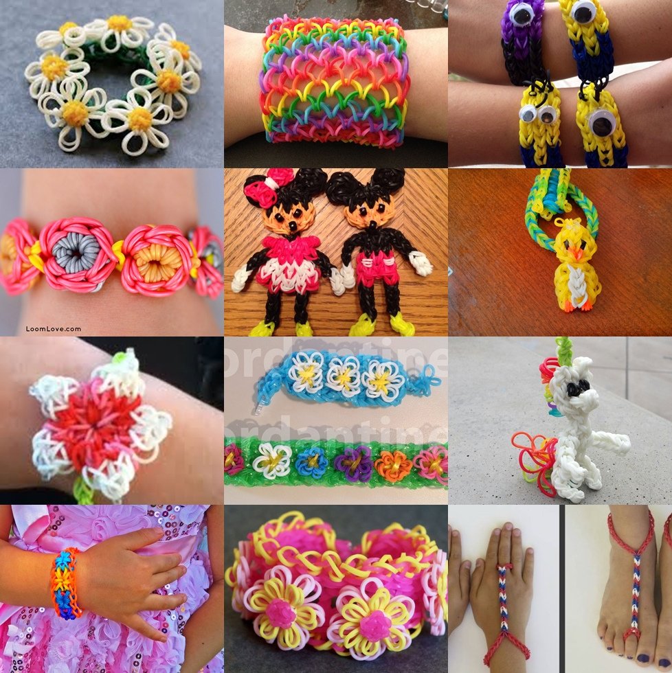 rainbow loom projects Wonderful DIY Fantastic Rainbow Loom Craft Collection