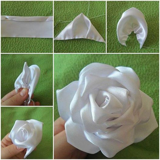 silk ribbon rose F