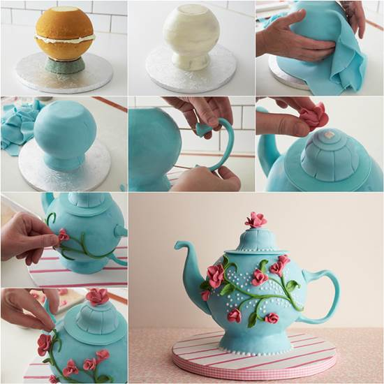 teapot cake Exquisite Edible Tea Pot Cake to DIY