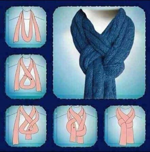 tie your scarf this way and its easy once you know how Wonderful DIY Easy to tie your scarf