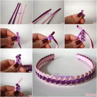 Wonderful DIY Two Tones Braided Ribbon