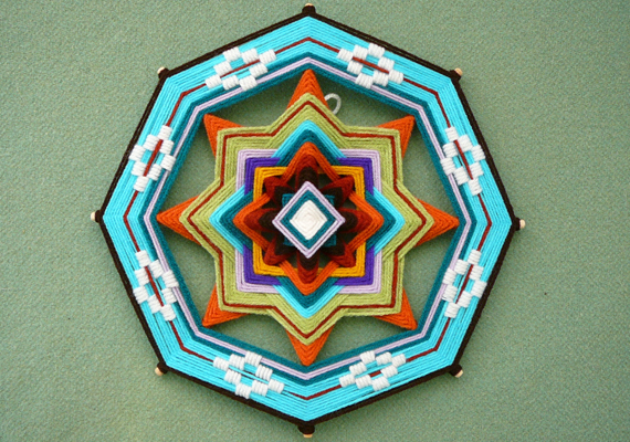 weaving 8 sides madala brooch