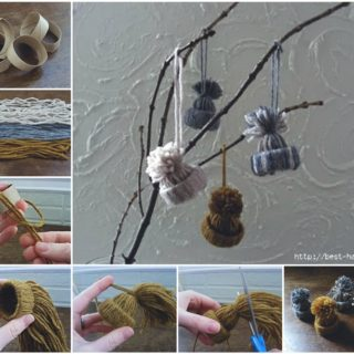 Wonderful DIY Adorable Yarn Hat Ornament
