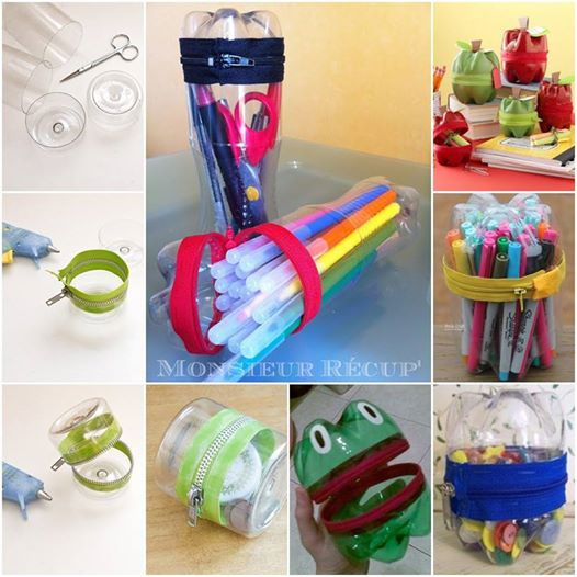 zipper holder Wonderful DIY Zipper Holder From Plastic Bottle