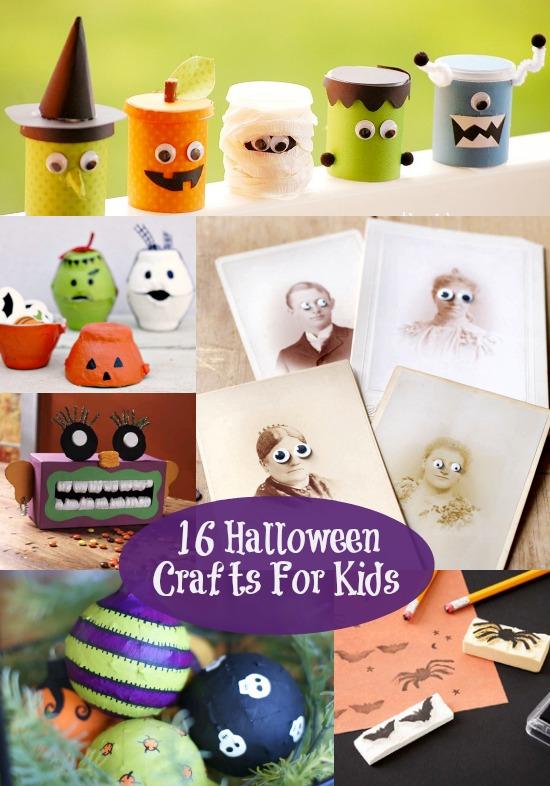 16 Halloween Crafts For Kids F Wonderful 16 Halloween Crafts For Kids