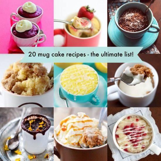 20 Mug Cakes recipe Wonderful 20 Mug Cake Recipes