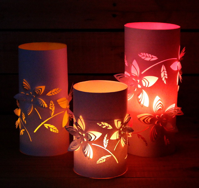3D paper lanterns 1 Wonderful DIY Beautiful 3D Paper Lanterns