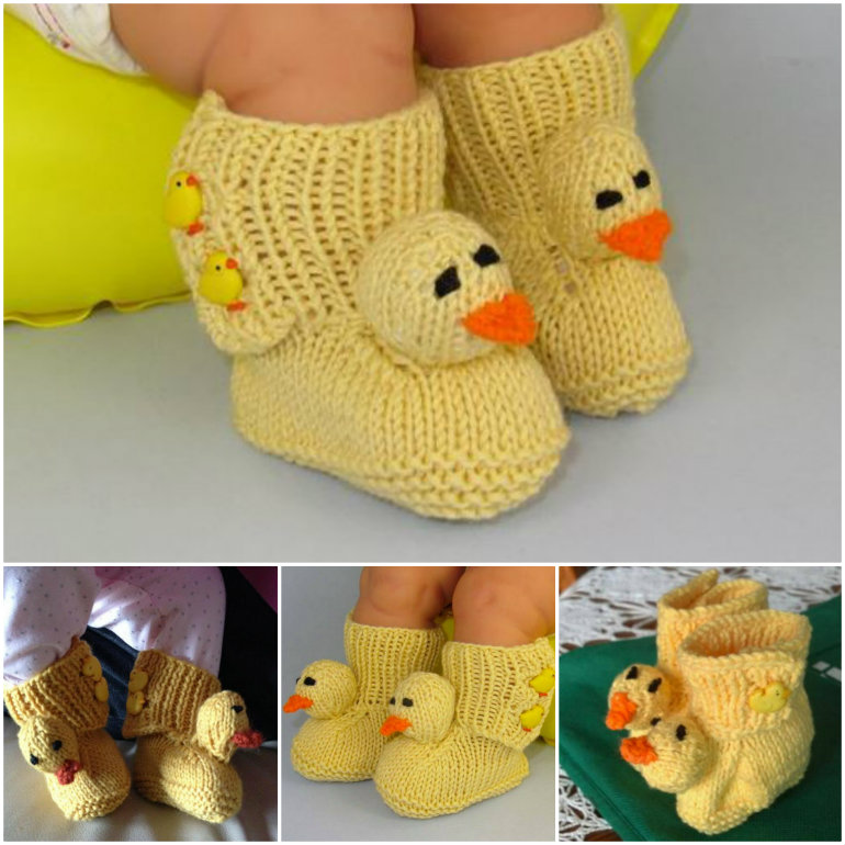 Baby-Chick-Crochet-Booties DIY