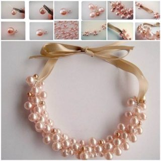 Wonderful DIY Beautiful Pearl Necklace