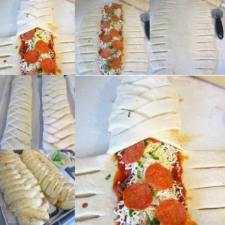 Wonderful DIY Delicious Braided Pizza Calzones