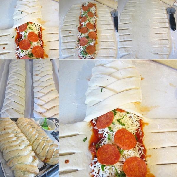Braided Pizza Calzones F Wonderful DIY Delicious Braided Pizza Calzones