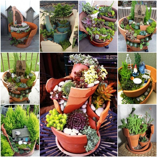 Mini Fairy Garden Ideas For Your Broken Pots