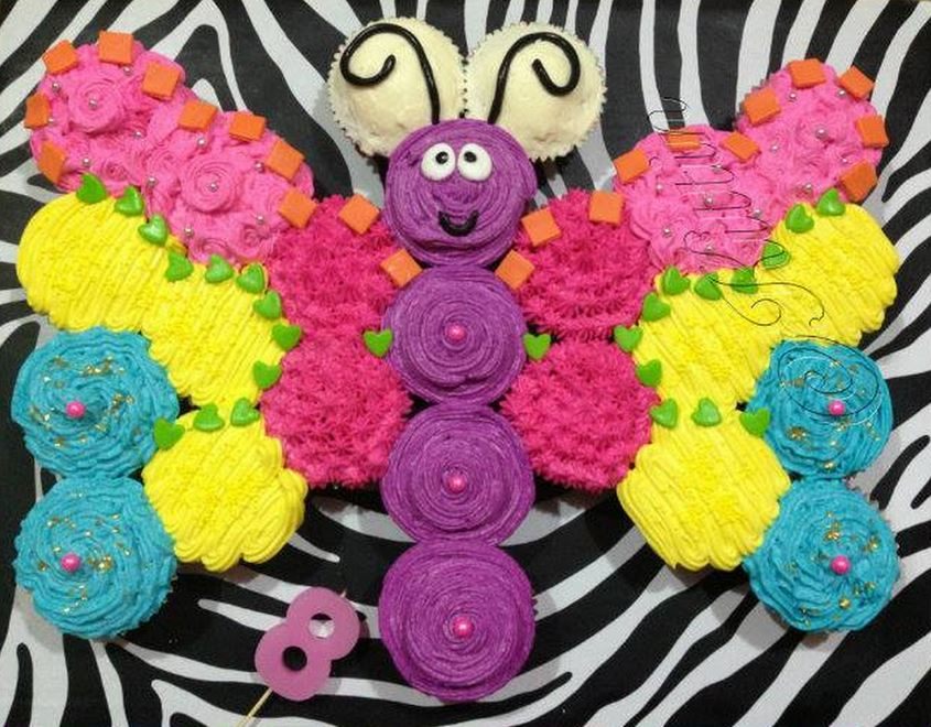Butterfly Pull Apart Cupcake Cake Wonderful DIY Amazing Butterfly Cupcake