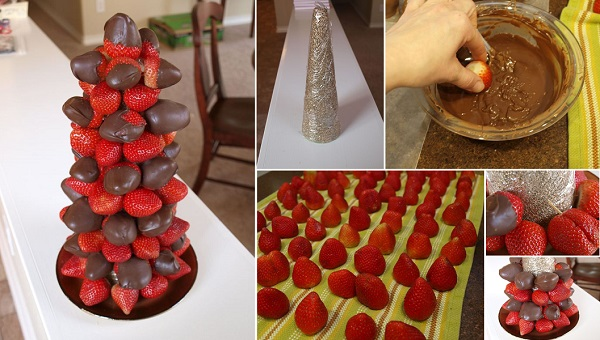 Chocolate Covered Strawberry Tower diy F2 Wonderful DIY Sweet Chocolate Covered Strawberry Tower