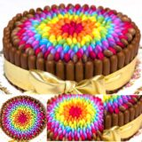 Wonderful DIY Cheerful Chocolate  Smarties Cake