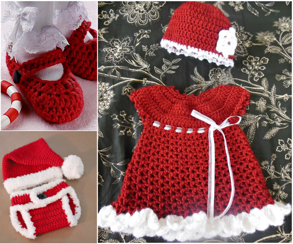 Christmas gift set FREE Crochet  The Cutest Christmas Crochet Gift Set for Girls