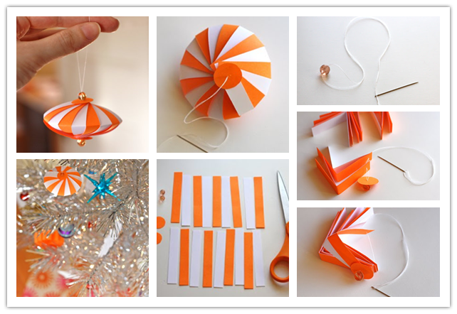 Colorful Striped Paper Ornament DIY Wonderful DIY Easy Striped Paper Ornament