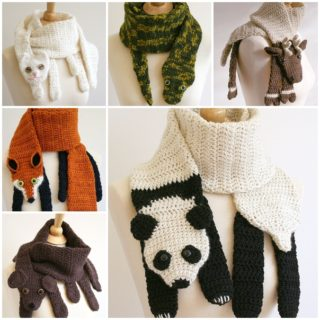 Wonderful DIY Cute Crochet Animal Scarves