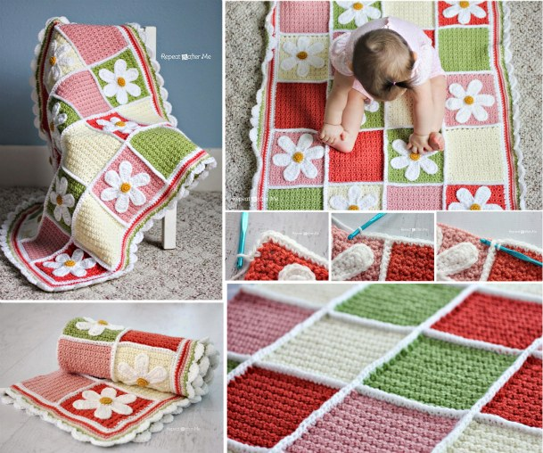Crochet-Baby-Blanket-with-Free-Pattern-wonderfuldiy