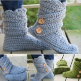 Fancy Crochet Slipper Boots – Free Pattern and Tutorial