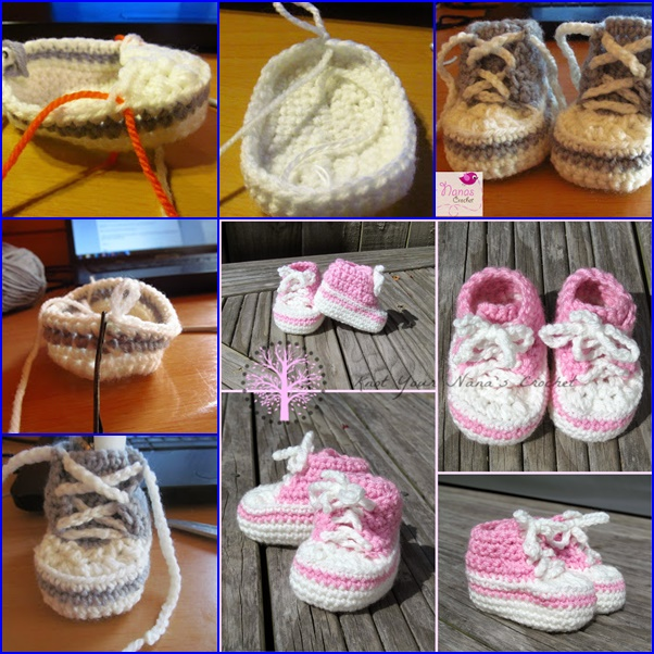 Wonderful Diy Cute Crochet Baby Sneakers