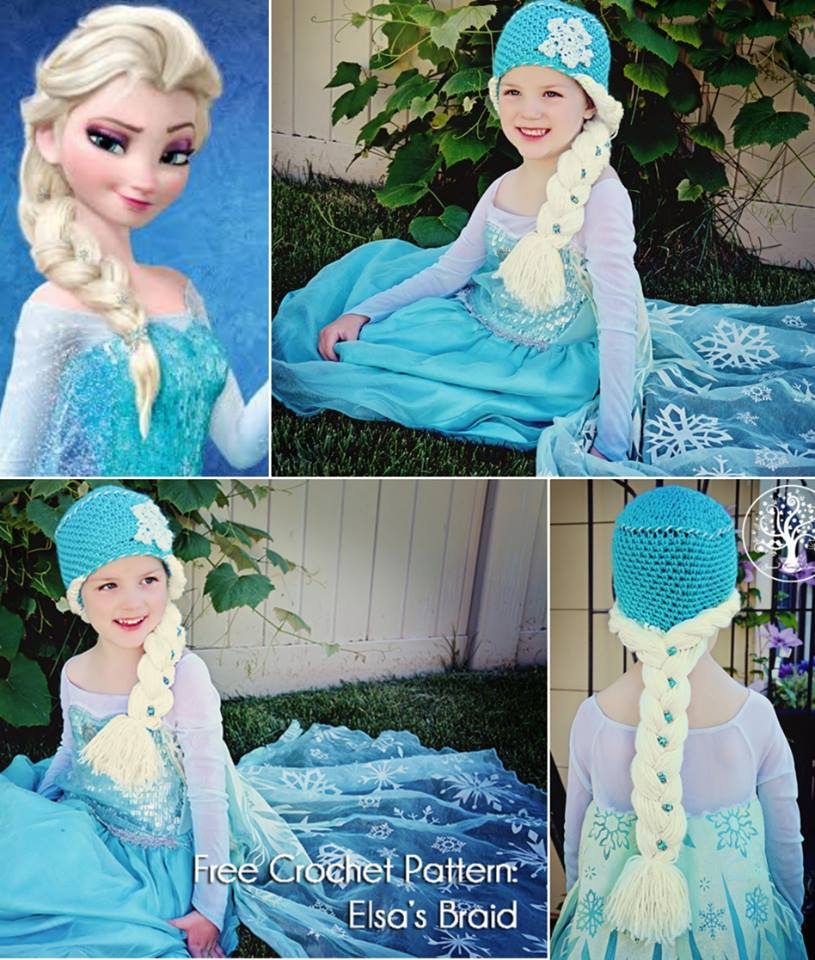 Wonderful Diy Crochet Snow Queen Hat With Elsas Braid Free Pattern