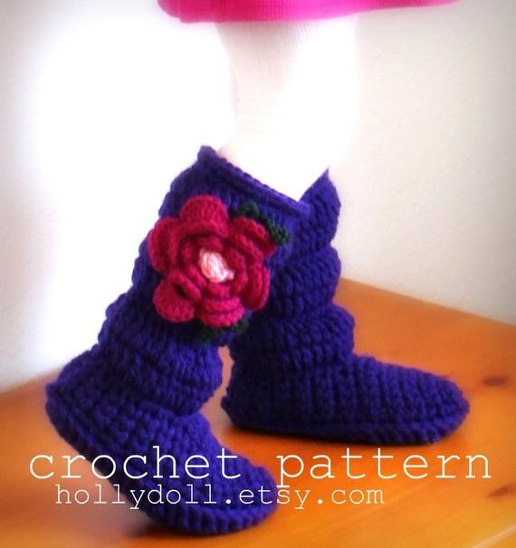 Crochet HollyDoll Cozy Slipper Boots 1 DIY Crochet Hollydoll Slipper Boots