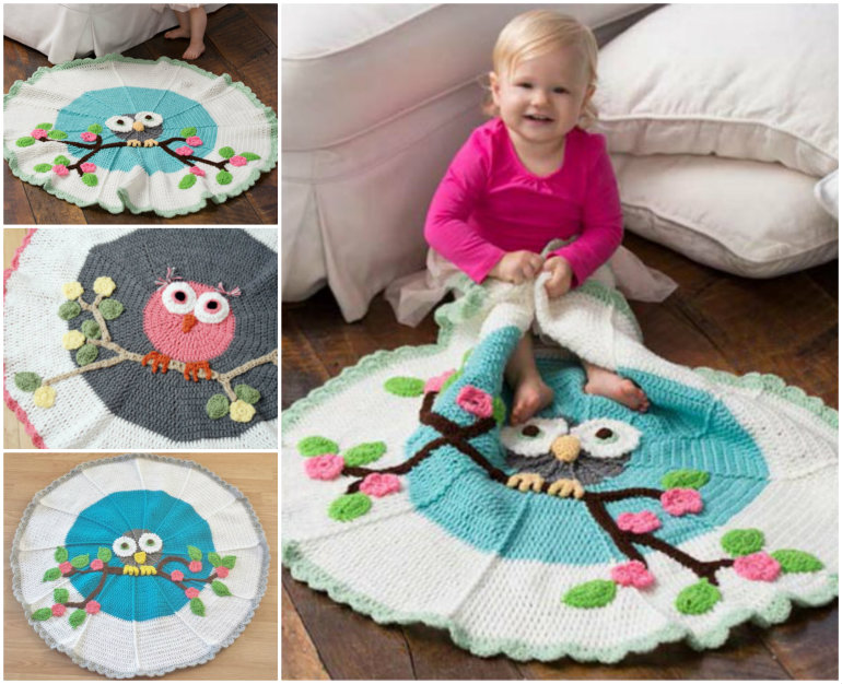 Crochet Owl Blanket pattern f Wonderful DIY Gorgeous Crochet Owl Blanket