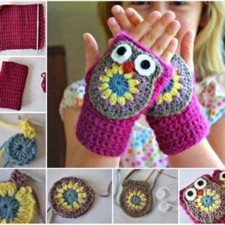 Wonderful DIY Cute Crochet Owl Mittens