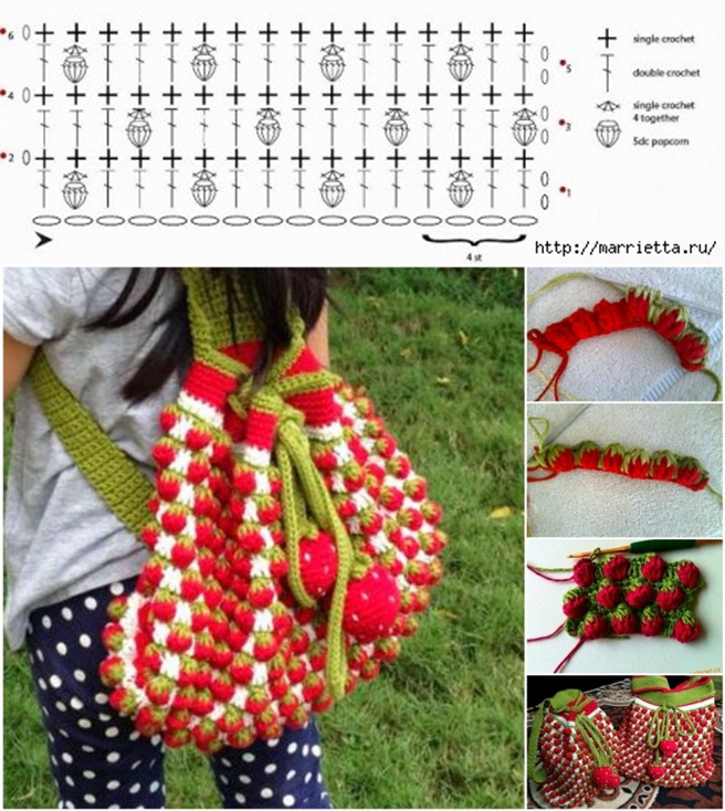 Crochet strawberry stitch f1 Wonderful DIY Cute Crochet Strawebrry