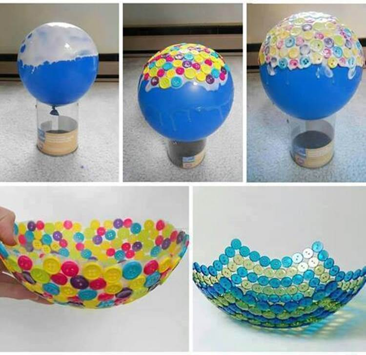 DIY Creative Button Bowl Wonderful DIY Cute Button Bowl