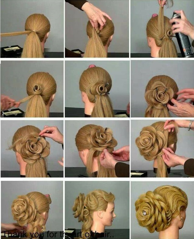 11 wonderful and cute christmas hairstyles view in gallery diy flower hairstyle f solutioingenieria Gallery