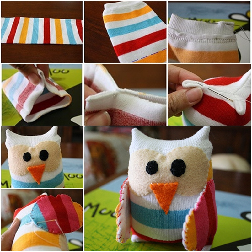 DIY Little Sock Owl F Wonderful DIY Adorable Sock Owl