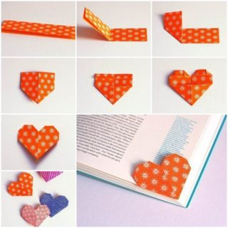 Wonderful DIY Unique Origami Heart Bookmark